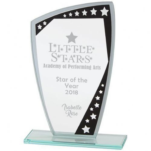 Cosmic Mirror Glass Award Black & Silver 210mm